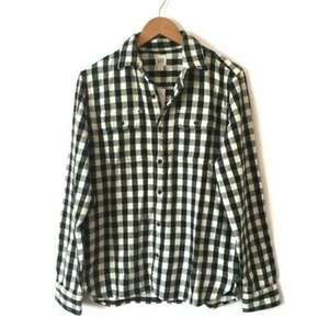 NWT GAP Men's Green and White Flannel Jacket SZ  M